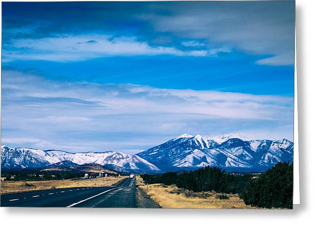 Snow Capped Greeting Cards - San Francisco Mountain Greeting Card by Kathleen Scanlan