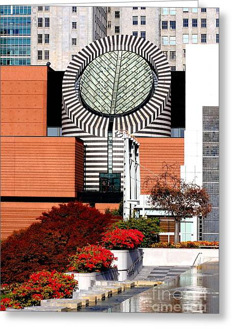 Mario Botta Botta Greeting Cards - San Francisco Museum of Modern Art SFMOMA 1 Greeting Card by Wingsdomain Art and Photography