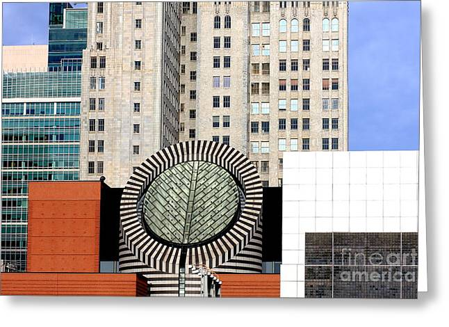Art Of Building Greeting Cards - San Francisco Museum of Modern Art SFMOMA 2 Greeting Card by Wingsdomain Art and Photography