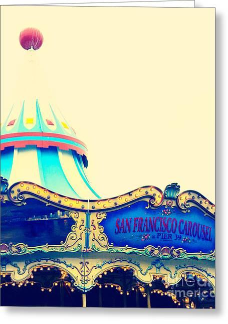 Pier 39 Greeting Cards - San Francisco Pier 39 Carousel Greeting Card by Kim Fearheiley