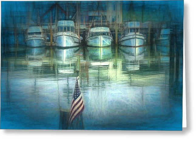 Docked Boats Greeting Cards - San Francisco Pier Greeting Card by Michael Cleere