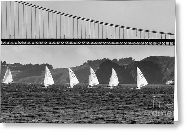 Best Sailing Photos Greeting Cards - San Francisco Seascape Greeting Card by Scott Cameron