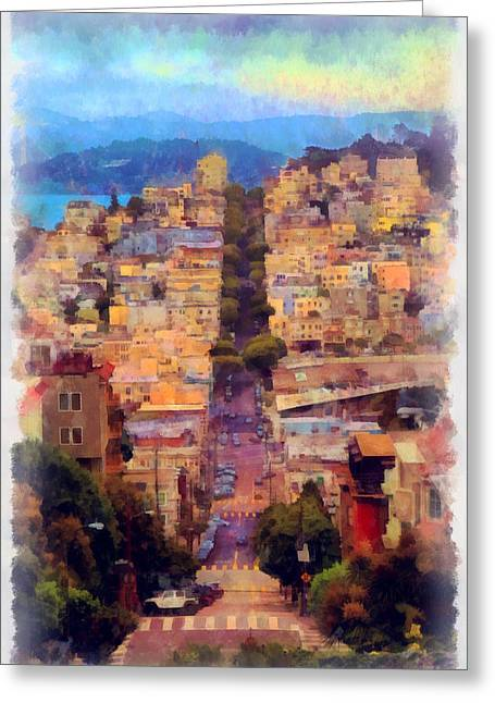Basement Greeting Cards - San Francisco Street Greeting Card by Viktor Savchenko