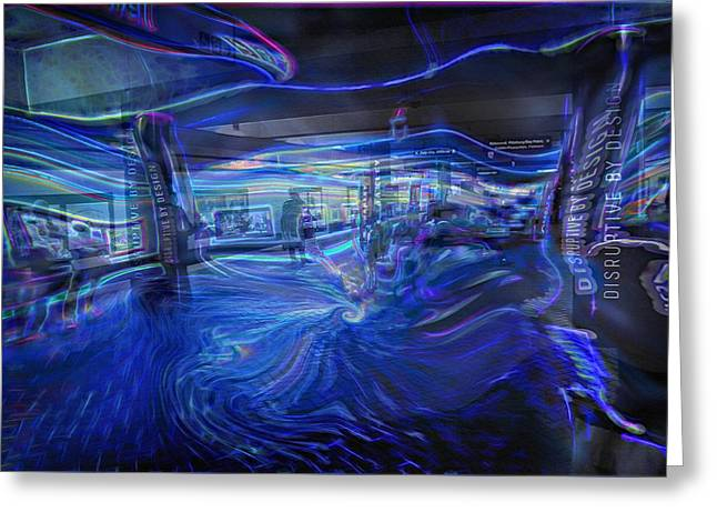 Downtown San Francisco Mixed Media Greeting Cards - San Francisco Subway 7 - Blue Dream Greeting Card by Steve Ohlsen