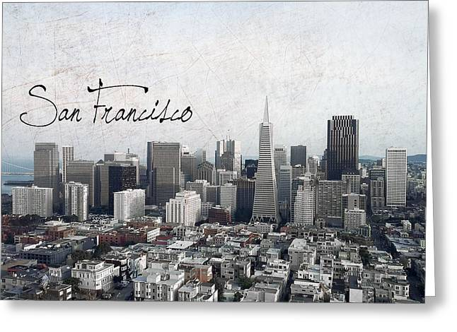 Downtown San Francisco Greeting Cards - San Francisco Unique Greeting Card by Daniel Hagerman