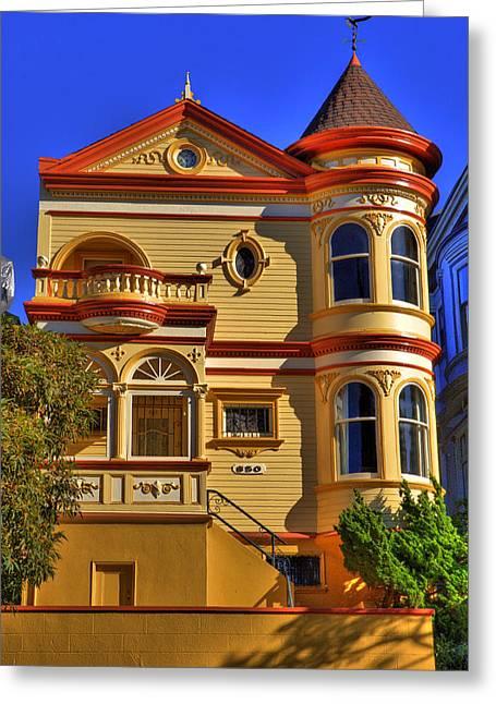 San Francisco Victorian Greeting Card by Paul Owen