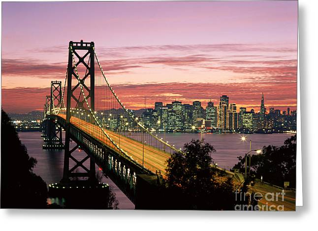 Howell Greeting Cards - San Fransico Bay at sunset Greeting Card by Michael Howell - Printscapes