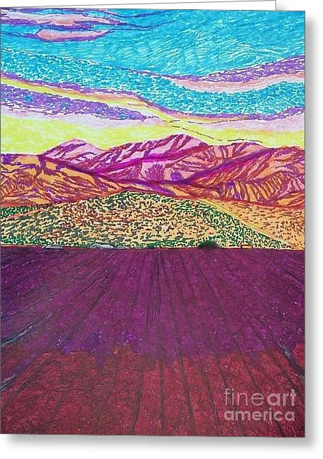 San Gabriel Song  Greeting Card by Ishy Christine Degyansky
