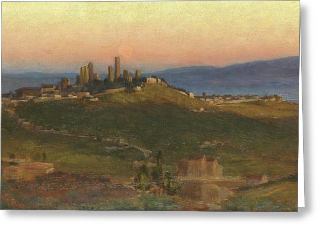 San Gimignano, 1898 Greeting Card by Edith Ridley Corbet