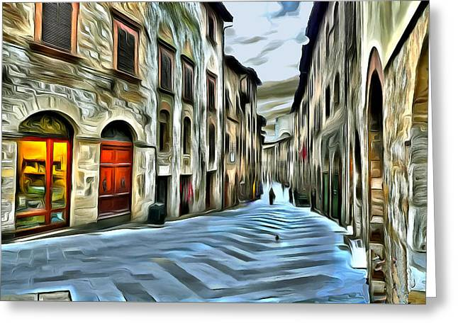 Historic Site Greeting Cards - San Gimignano Greeting Card by Jean-Marc Lacombe