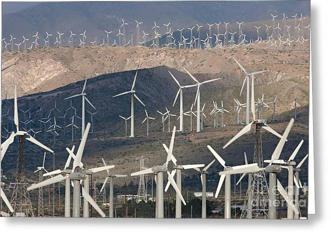 Best Sellers -  - Generators Greeting Cards - San Gorgonio Pass Wind Farm I Greeting Card by Clarence Holmes