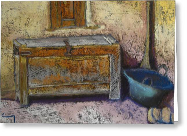 Chest Pastels Greeting Cards - San Isidro  Greeting Card by Constance Gehring