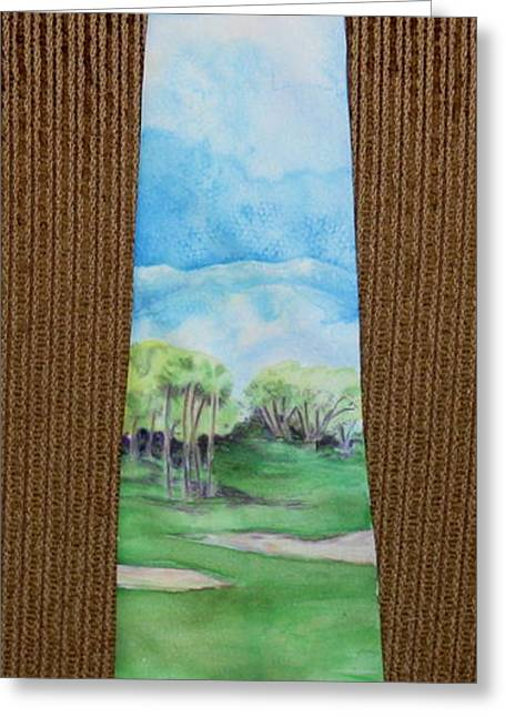 Golf Tapestries - Textiles Greeting Cards - San Jacinto Tee Time Greeting Card by David Kelly