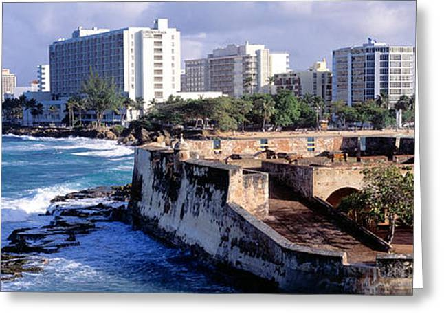 Defensive Greeting Cards - San Jeronimo Fort, San Juan, Puerto Rico Greeting Card by Panoramic Images