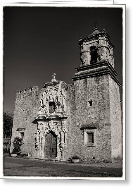 Anne Francis Greeting Cards - San Jose - BW Border Greeting Card by Stephen Stookey