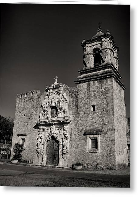 Anne Francis Greeting Cards - San Jose - BW Greeting Card by Stephen Stookey