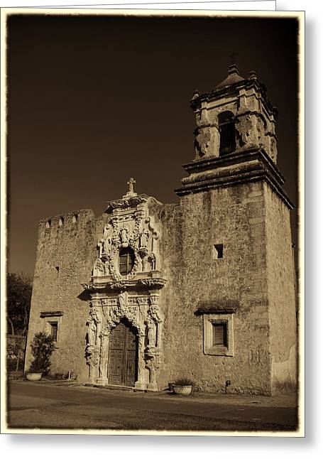 Francis Greeting Cards - San Jose - Sepia Border Greeting Card by Stephen Stookey