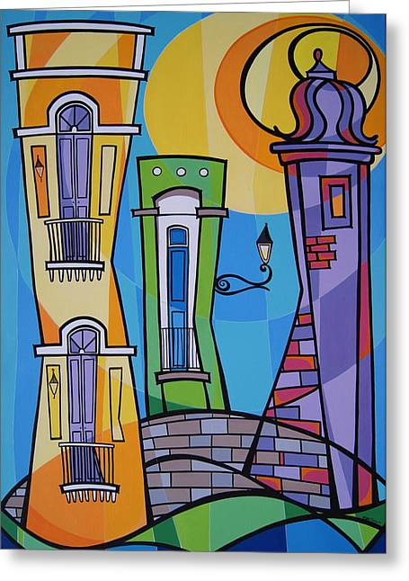 Puerto Rico Greeting Cards - San Juan Alegre-1 Greeting Card by Mary Tere Perez
