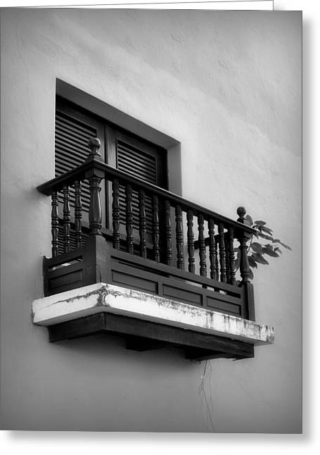 San Juan Window 2 Greeting Card by Perry Webster
