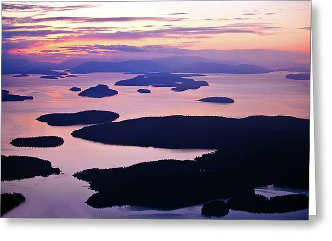 Washington State Greeting Cards - San Juans Tranquility Greeting Card by Mike Reid