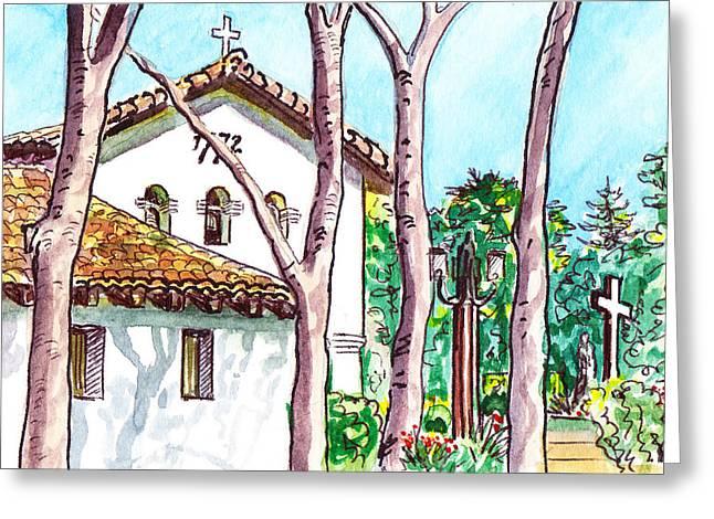 Californian Greeting Cards - San Louis Obispo Mission Greeting Card by Irina Sztukowski