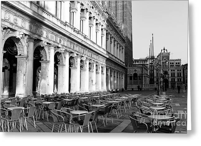Basilica San Marco Greeting Cards - San Marco Morning Greeting Card by John Rizzuto