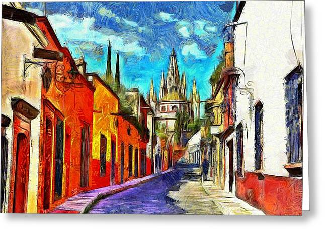 Recently Sold -  - Enhanced Greeting Cards - San Miguel de Allende Greeting Card by Jean-Marc Lacombe
