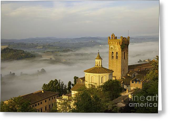 Tuscan Valley Greeting Cards - San Miniato Greeting Card by Brian Jannsen