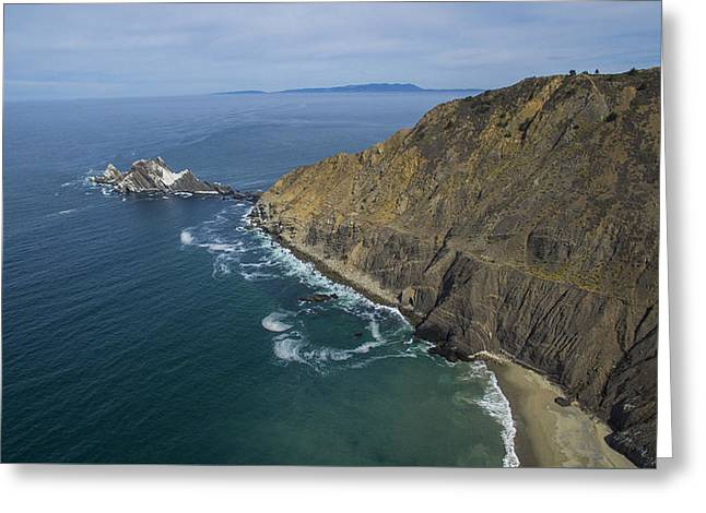 Big Sur Greeting Cards - San Pedro Rock Greeting Card by David Levy