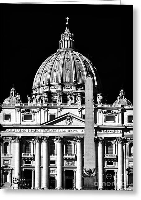Cupola Greeting Cards - San Pietro Greeting Card by John Rizzuto
