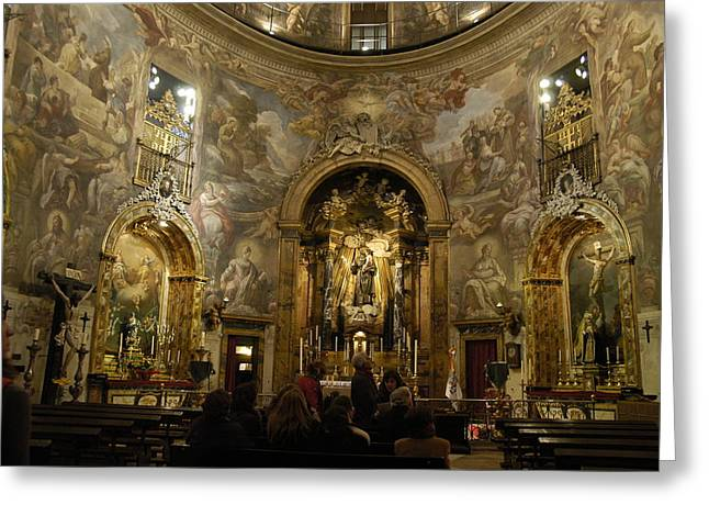 San Rafael Church Greeting Cards - San Rafael/alemanes-1 Greeting Card by Hugh Peralta
