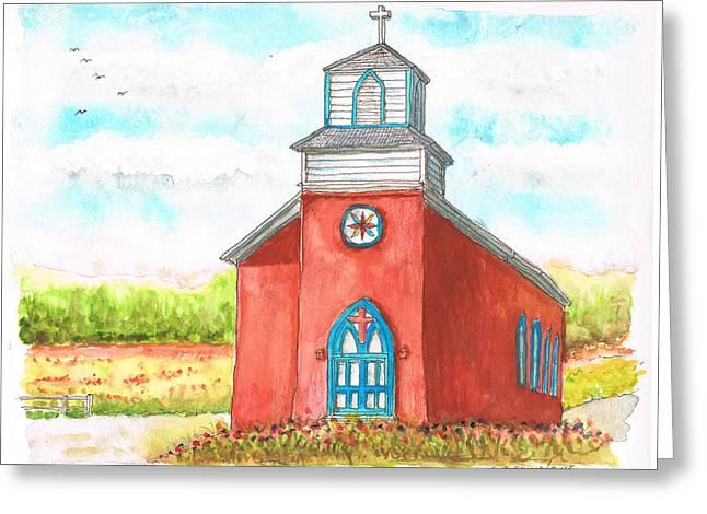 San Rafael Church-1866 - La Cueva-new Mexico Greeting Card by Carlos G Groppa