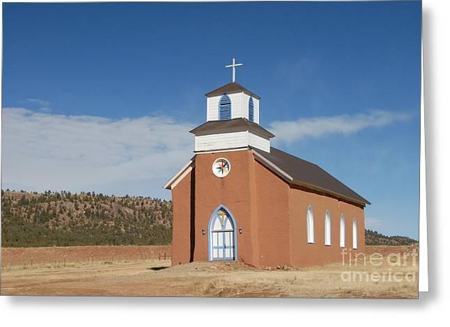 La Cueva Greeting Cards - San Rafael Church Greeting Card by Bill Hyde