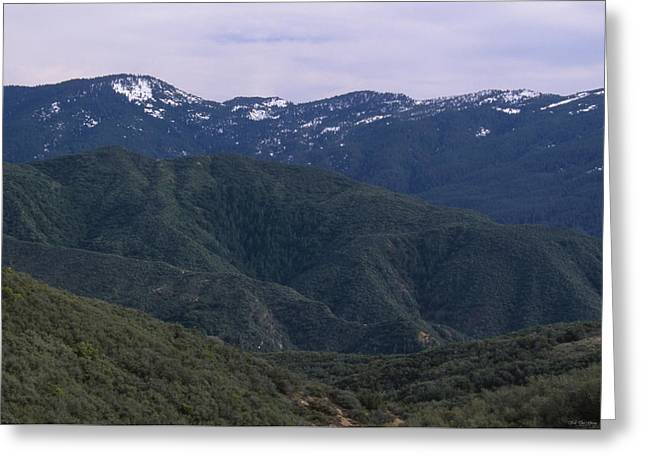 San Rafael Mountains Greeting Card by Soli Deo Gloria Wilderness And Wildlife Photography