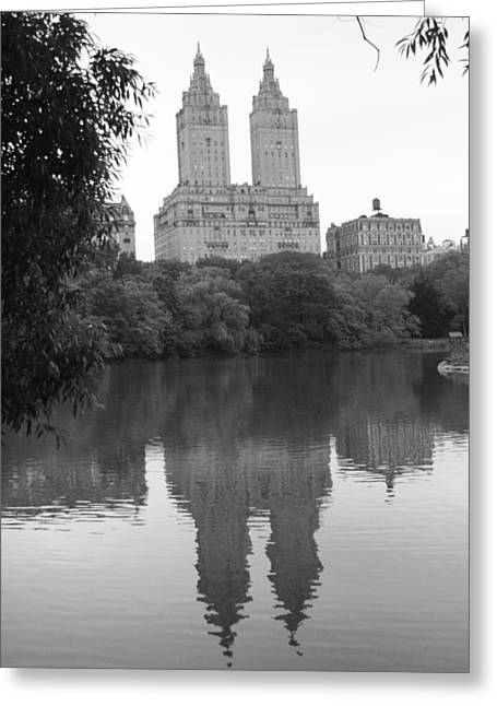 San Remo Reflection On The Lake Greeting Card by Christopher Kirby