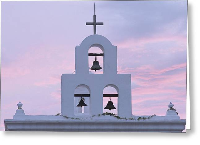 Religious Structure Greeting Cards - San Xavier Mission 1782, Near Tucson Greeting Card by Phil Schermeister