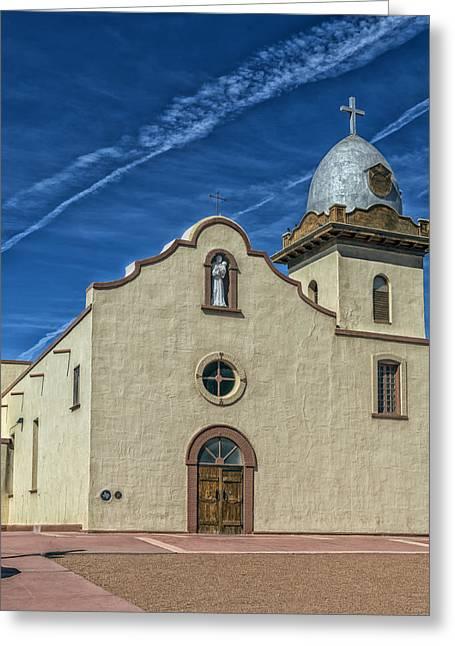 San Ysleta Mission Greeting Card by Mountain Dreams