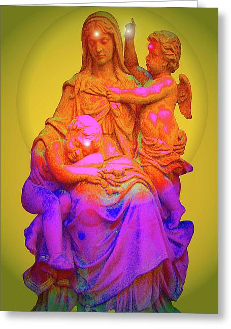 Sancta Maria No. 02 Greeting Card by Ramon Labusch