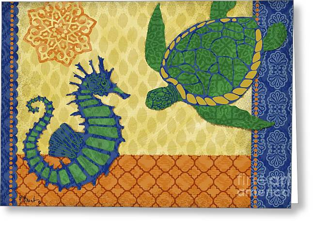 Sea Life Greeting Cards - Sanctuary Bay - Horizontal Greeting Card by Paul Brent