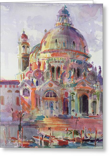 Venetian Architecture Greeting Cards - Sanctuary Greeting Card by Peter Graham