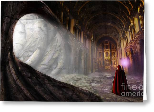 Sanctum Greeting Card by John Edwards