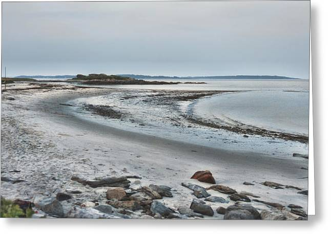 Maine Beach Greeting Cards - Sand Along the Shoreline Greeting Card by Richard Bean
