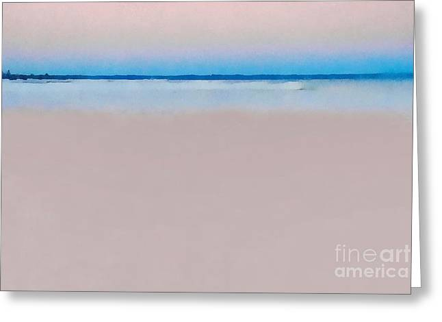Abstract Beach Landscape Greeting Cards - Sand and Sea Greeting Card by Andrea Kollo