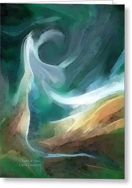 Sand And Sea Greeting Card by Carol Cavalaris