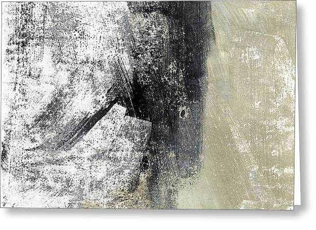 Sand And Steel- Abstract Art Greeting Card by Linda Woods