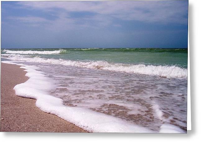 Anna Villarreal Garbis Greeting Cards - Sand and Surf Greeting Card by Anna Villarreal Garbis
