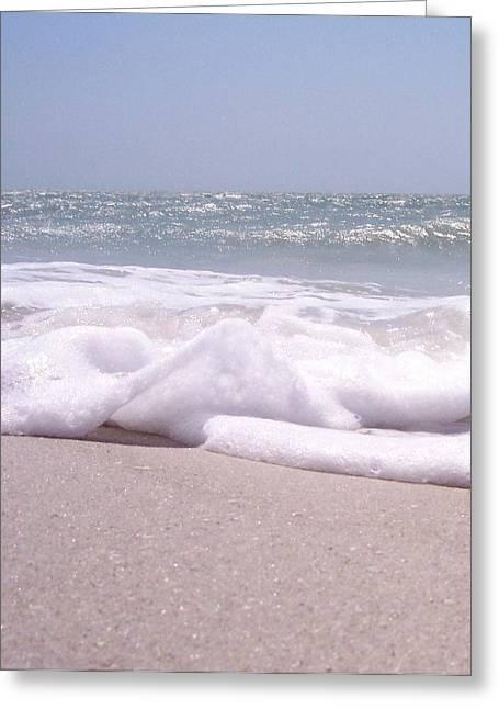 Anna Villarreal Garbis Greeting Cards - Sand and Surf II Greeting Card by Anna Villarreal Garbis