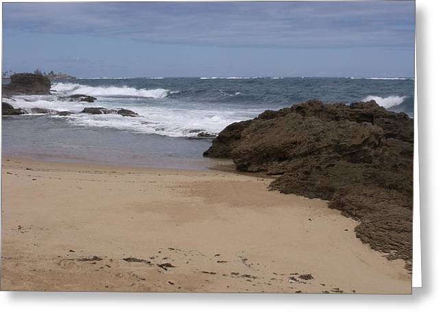 Sand And Surf San Juan Greeting Card by Anna Villarreal Garbis