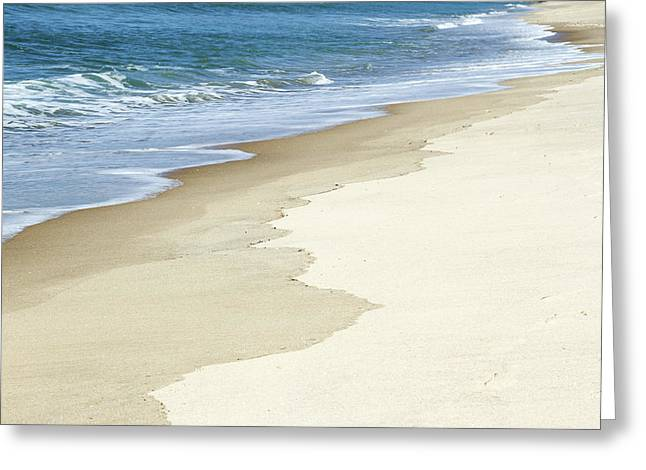 Beach Photograph Greeting Cards - Sand and water Greeting Card by Les Cunliffe