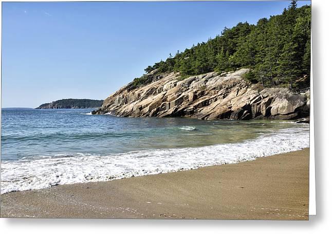 Maine Beach Greeting Cards - Sand Beach - Acadia National Park - Maine Greeting Card by Brendan Reals